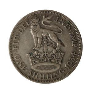 1934 King George V Shilling