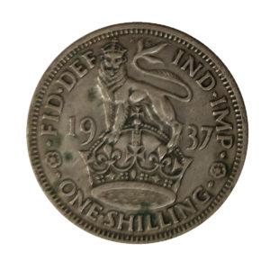 1937 King George VI English Shilling