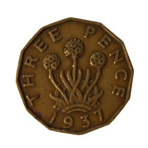 1937 King George VI Threepence
