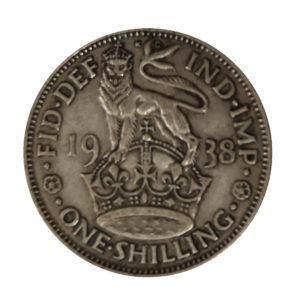 1938 King George VI English Shilling