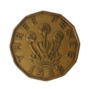 1938 George VI Threepence