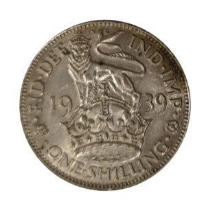 1939 King George VI English Shilling