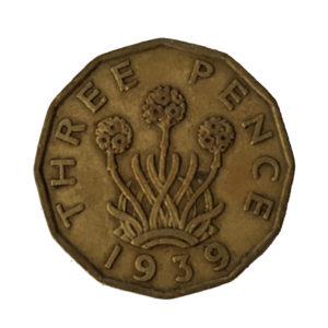1939 King George VI Threepence