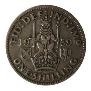 1939 King George VI Scottish Shilling