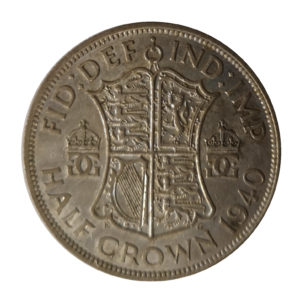 1940 King George VI Half Crown