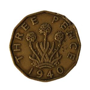 1940 King George VI Threepence