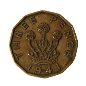 1941 King George VI Threepence