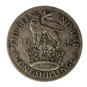 1942 King George VI English Shilling