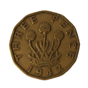 1942 King George V Threepence