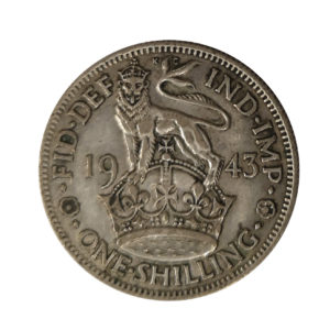 1943 King George VI English Shilling