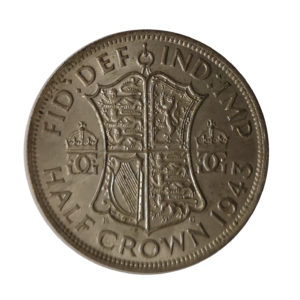 1943 King George VI Half Crown