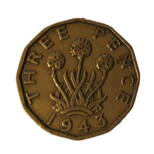 1943 King George VI Threepence