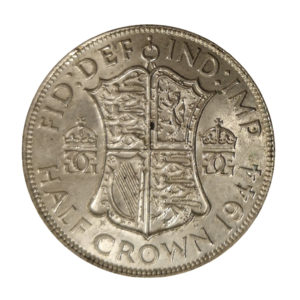 1944 King George VI Half Crown