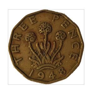1948 King George VI Threepence