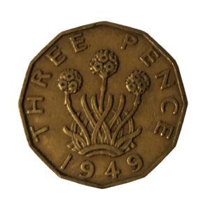 1949 King George VI Threepence