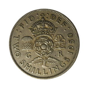 1950 King George VI Two Shillings