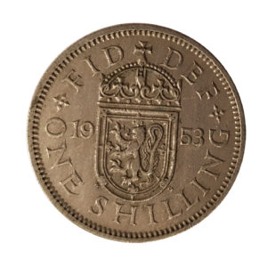 1953 Queen Elizabeth II Scottish Shilling