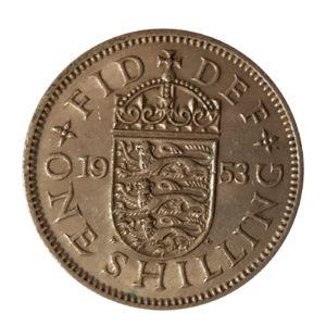 1953 Queen Elizabeth II Shilling