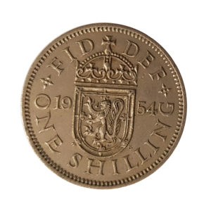 1954 Queen Elizabeth II Scottish Shilling