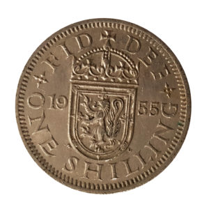 1955 Queen Elizabeth II Scottish Shilling