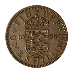 1955 Queen Elizabeth II English Shilling