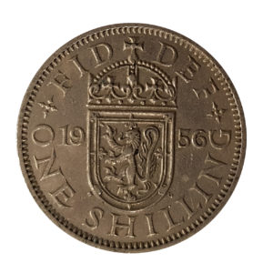 1956 Queen Elizabeth II Scottish Shilling