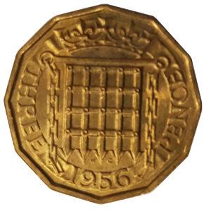 1956 Queen Elizabeth II Threepence