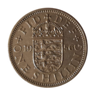1956 Queen Elizabeth II English Shilling