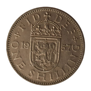 1957 Queen Elizabeth II Scottish Shilling