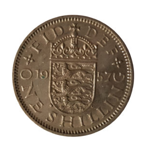1957 Queen Elizabeth II English Shilling