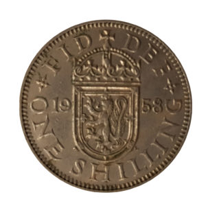 1958 Queen Elizabeth II Scottish Shilling