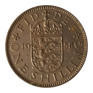 1958 Queen Elizabeth II English Shilling