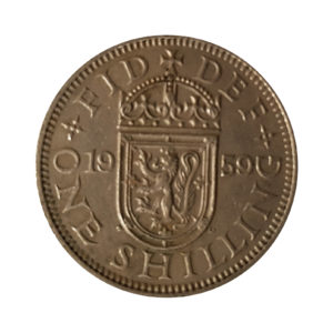 1959 Queen Elizabeth II Scottish Shilling