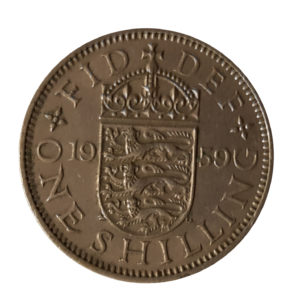 1959 Queen Elizabeth II English Shilling
