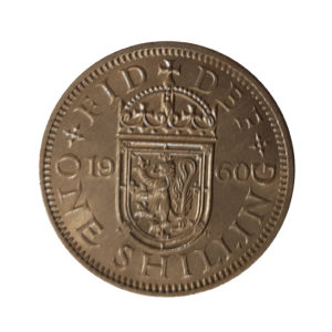 1960 Queen Elizabeth II Scottish Shilling