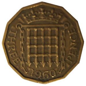 1960 Queen Elizabeth II Threepence