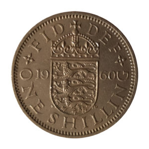 1960 Queen Elizabeth II English Shilling