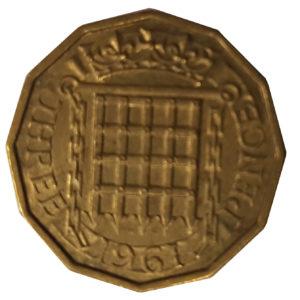 1961 Queen Elizabeth II Threepence
