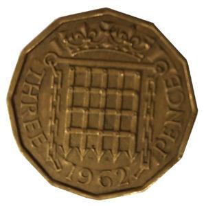 1962 Queen Elizabeth II Threepence