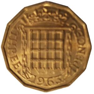 1963 Queen Elizabeth II Threepence