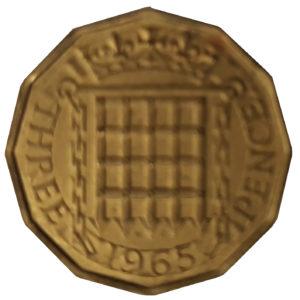 1965 Queen Elizabeth II Threepence