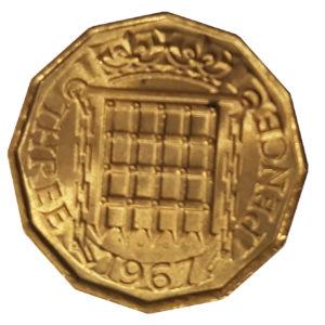 1967 Queen Elizabeth II Threepence