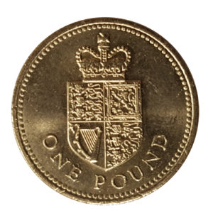 1988 Queen Elizabeth II One Pound Coin