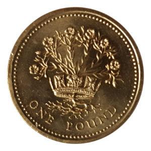 1991 Queen Elizabeth II One Pound Coin