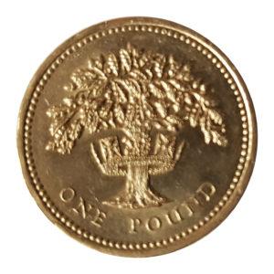 1992 Queen Elizabeth II One Pound Coin
