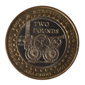 "2004 ""Steam Locomotive"" Two Pounds Coin"