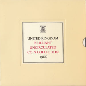 1986 Brilliant Uncirculated Coin Set