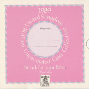 1989 Brilliant Uncirculated Coin Set - Struck For Your Baby!
