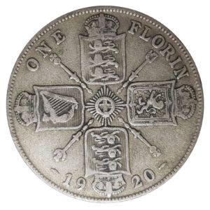 1920 Two Shillings, King George V, Coin