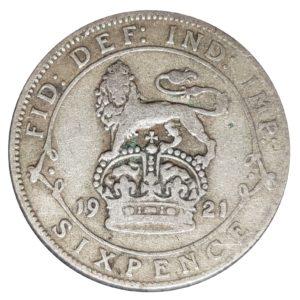 1921 Sixpence - King George V